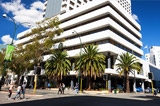 Exterior of the Pan Pacific Hotel in Perth