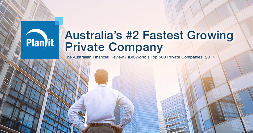Planit Named Australia's #2 Fastest Growing Private Company
