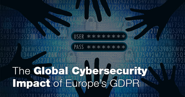 The Global Cybersecurity Impact of Europe's GDPR