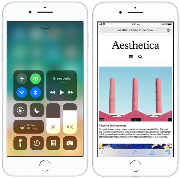 iOS 11 on iPhone 8