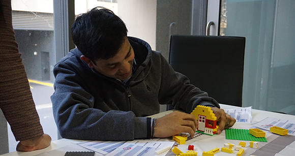 LEGO used in a CAT activity