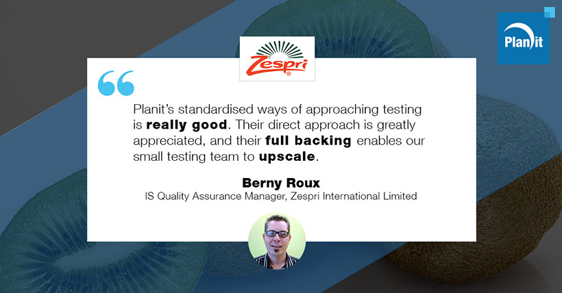 Berny Roux, IS Quality Assurance Manager, Zespri International Limited