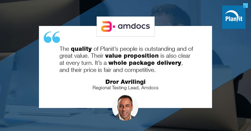 Dror Avrilingi, Regional Testing Lead, Amdocs