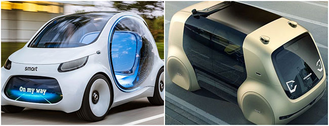Smart car and VW concept