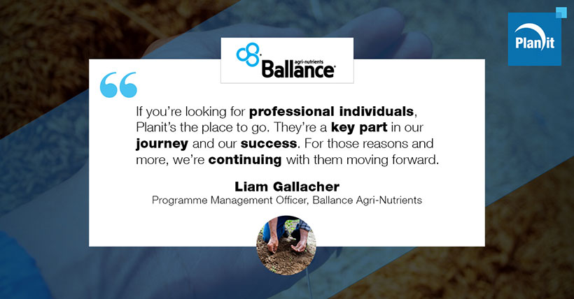 Liam Gallacher, Programme Management Officer, Ballance Agri-Nutrients