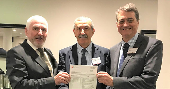 CSU Associate Professor and Head of School of Computing and Mathematics, Irfan Altas (pictured centre), with IT Masters CEO, Martin Hale (left) and Planit Director of Training, James Pennefather (right), at the launch of Planit-CSU partnership.