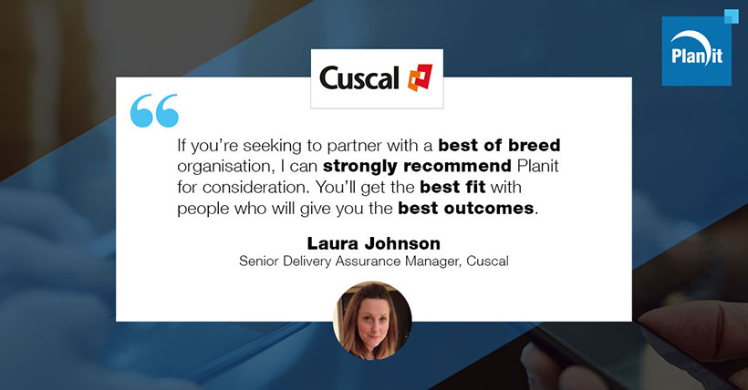 Laura Johnson, Senior Delivery Assurance Manager, Cuscal