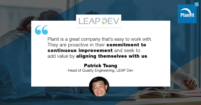 Patrick Tsang, Head of Quality Engineering, LEAP DEV