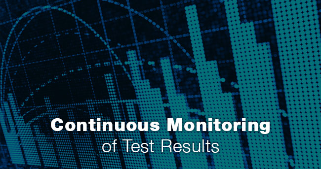 Continuous Monitoring of Test Results