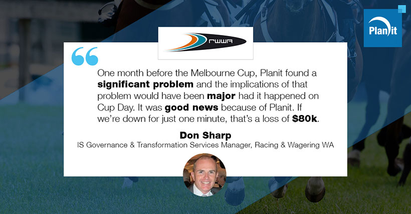 Don Sharp, Manager IS Governance and Transformation Services, Racing and Wagering WA (RWWA)