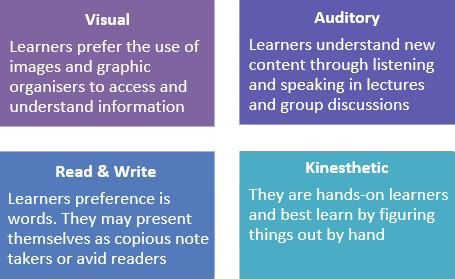Four styles of learning