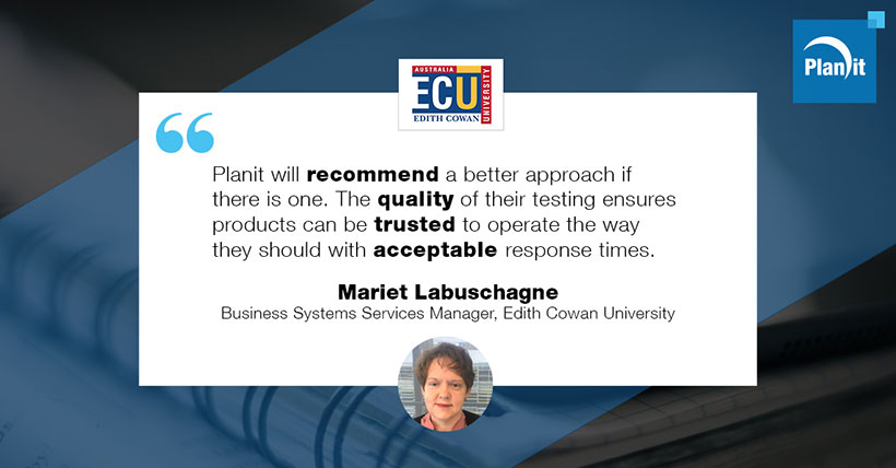 Mariet Labuschagne, Business Systems Services Manager, Edith Cowan University