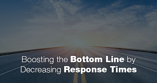 Image: Highway leading to the horizon. Title: Performance Matters: Boosting the Bottom Line by Decreasing Response Times