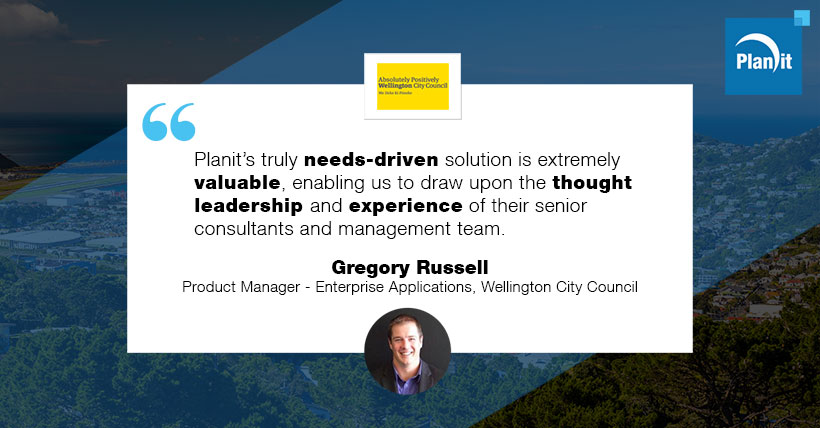 Gregory Russell, Product Manager - Enterprise Applications, Wellington City Council