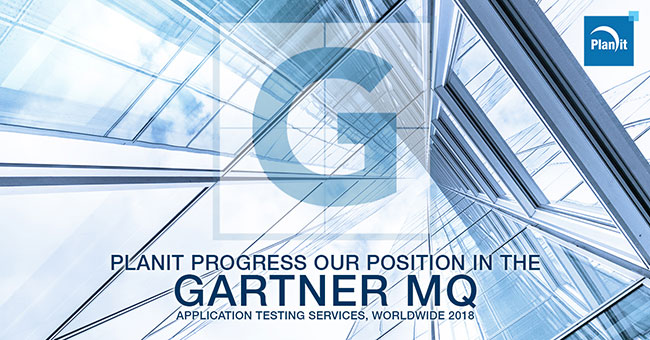 Planit progresses its position in the Gartner's Magic Quadrant for Application Testing Services